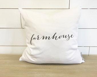 Farmhouse Pillow Cover 18 x 18 // Accent Pillow / Throw Pillow / Farmhouse Decor / Farmhouse Pillow / Farm / Gift / Farm Decor