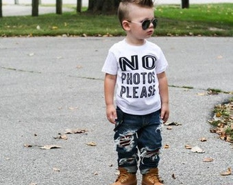 NO PHOTOS PLEASE Tee Toddler Girl Shirt, Toddler Boy Shirt,  Boy Tee, Baby Girl Shirt, Baby Boy Shirt