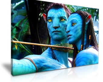 Avatar Movie Stretched Canvas Print 76 cm x 50 cm