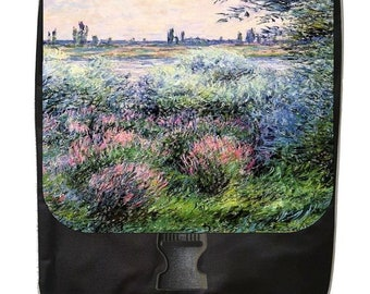 Artist Claude Monet's Arm of the Sien Near Giverny - Large Black School Backpack