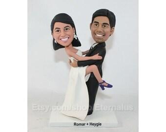 Personalized custom  wedding cake topper  , wedding cake topper , Wedding anniversary gift ,great idear cake topper