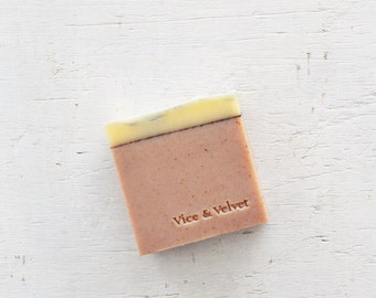 The Great Escape Soap (VICE) Vanilla Bean, Coconut, Sakura, Sandalwood & Mandarin - Almond and Rosehip Soap