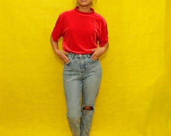 Red Velvet Oversized Tee Shirt