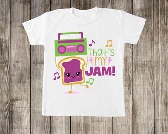 That's My Jam Toast Little Kids T-shirt or Baby Onesie