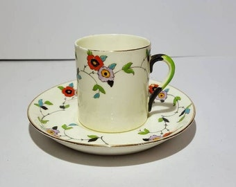Tuscan Bone China - art deco coffee cup (espresso sized) and saucer - Tuscan china