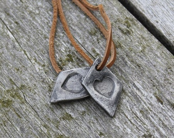 Forged Heart Pendant