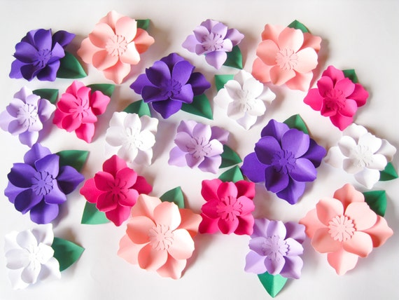 20 paper flowers small paper flowers wedding arch large like this item mightylinksfo Choice Image