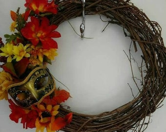 Festive Masquerade Wreath