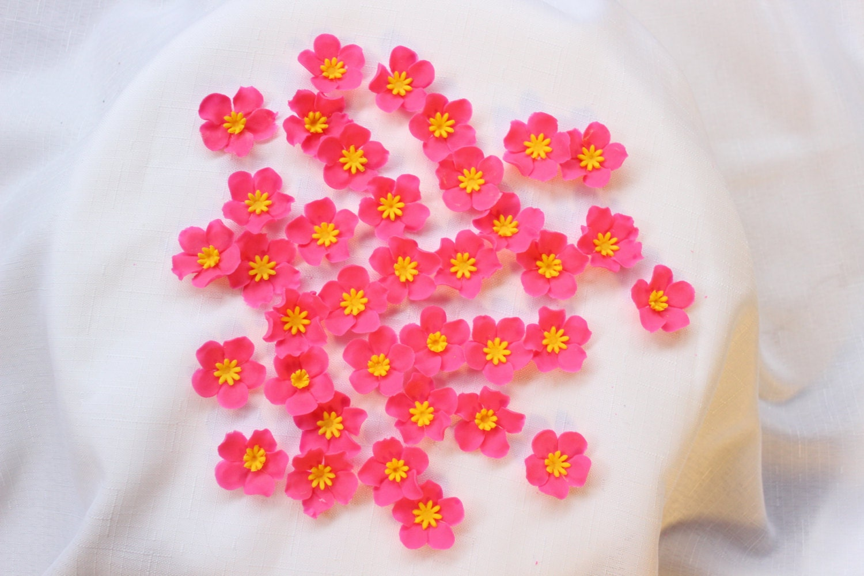 cake pop toppers 1.25 fondant flowers edible flowers