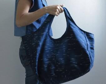 Indigo Tote Bag Saifon / indigo dyed bag / Toronto