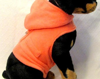 Coral Fleece Dog Hoodie Harness Vest Size SMALL