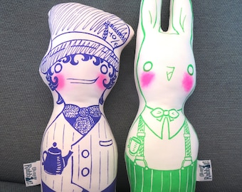 Alice in Wonderland dolls: Hatter and March Hare