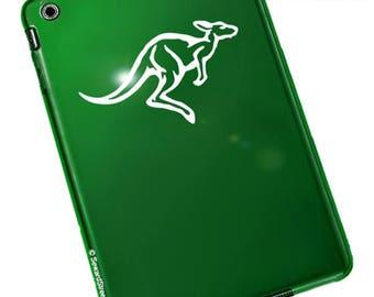 "Kangaroo Decal, Marsupial Laptop Sticker, Wallaby Auto Decal, Macropodidae Window Sticker, Kangaroo Vinyl Decal / 2.25""h x 4.75""w - #911"