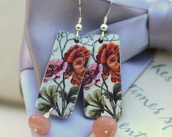 Vintage Flowers Earrings with Sterling earwires