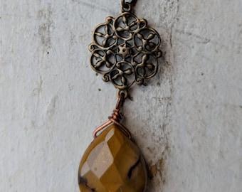 Jasper multichain necklace