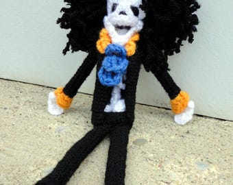 Brook (One Piece) - Handmade crochet original design doll