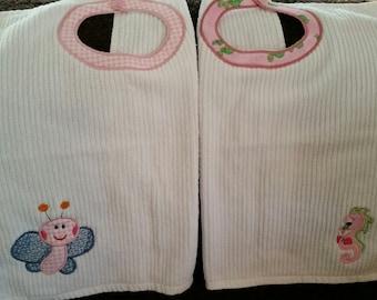 TODDLER Towel Bibs - 2 pack