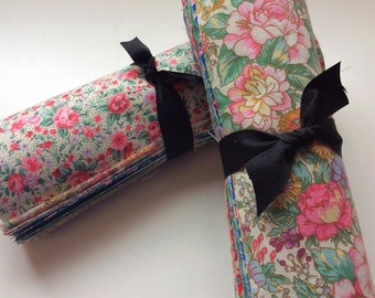 """Vintage Floral  Shabby chic light precut 10"""" layer cake 100% cotton fabric quilt"""