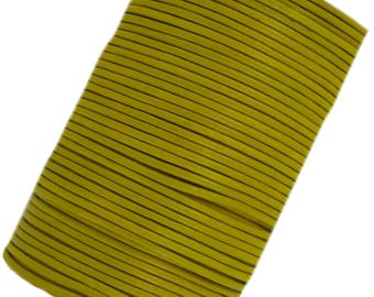 Yellow Leather cord laces 2 mm round