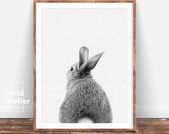 Bunny Tail Print, Nursery Wall Art, Nursery Decor, Rabbit Print, Nursery Art, Nursery Prints, Printable Art Print, Woodland Nursery, Animal