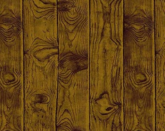 Wood grain Fabric - Walnut Wood grain - Majestic Woods (Owl) by Kathy Hall for Andover 8587 KN - Priced by the 1/2 Yard
