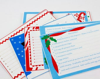 Recipe Cards Christmas Cookie Exchange Editable 4 x 6 Recipe Cards