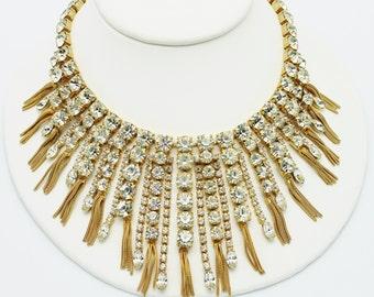 Hattie Carnegie Signed Incredible Fringe Necklace