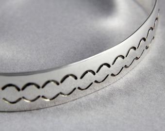 Bracelet - Stamped Sterling Silver Cuff