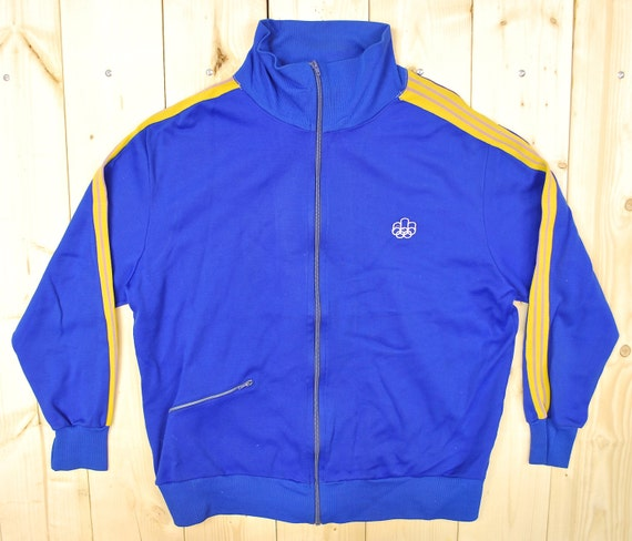 Vintage 1970's Powder Blue ADIDAS Windbreaker / Retro Collectable Rare eehmVQ
