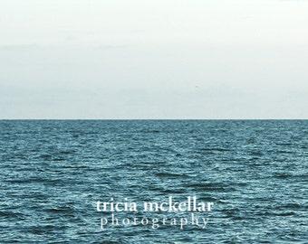 Large Minimalist Ocean Photograph, Uninterrupted, 30x45 Fine Art Photography Print by Tricia McKellar
