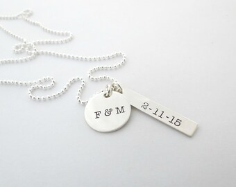 Personalized Necklace - Custom Couples Jewelry - Initial Necklace - Anniversary - Womens Necklace - Personalized Jewelry - Mothers - Names