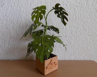 Dollhouse Miniature, Dollhouse Plants, 1:12 scale,  Miniature Plants, Dollhouse Accessories, Monstera Plant, Desk Accessories
