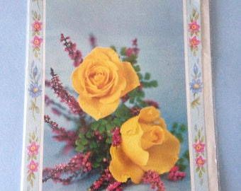 Vintage 1950s or 1960s Birthday Card for a Cousin with Original Envelope & Cellophane