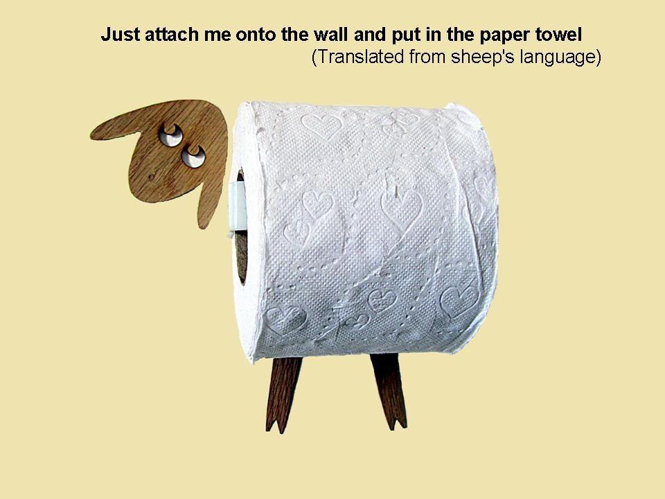 mouton support rouleau de papier toilette mouchoirs dr le. Black Bedroom Furniture Sets. Home Design Ideas