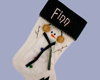 Christmas Stocking - Snowman