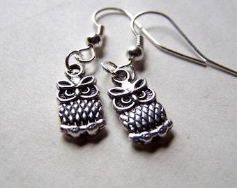 Kids Jewelry Cute Little Silver Owl Earrings Girls Earrings Clip On Girls Jewelry Owl Kids Earrings Gift for Girl