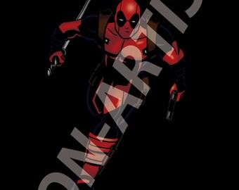 Maximum Effort! (Marvel Deadpool digital art print)