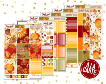 Happy Fall // A La Carte [ALC004] -Stickers for the EC Happy Planner Life planner