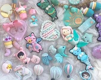 Custom art charms bracelets brooches figurines