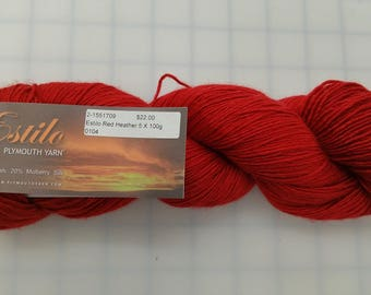 Plymouth Yarn - Estilo - color #104 Red Heather