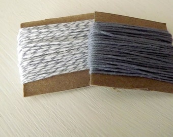 Cotton string Gray Solid Divine Twine 10 Yards Oyster Divine Twine 10 Yards 20 Yards Total grey string