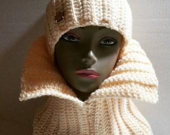 Crochet Ribbed Hat & Scarf Set