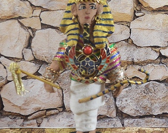 King Tut - Egyptian History- Collectible Figures- Kings of Egypt-  Egyptian Pharaoh