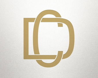Printable Monogram Design - CD DC - Printable Monogram - Digital