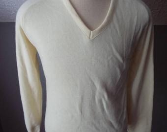 Vintage Long Sleeve Vee Neck Sweater by Collegiate Casuals