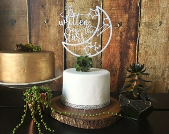 It's Written in the Stars Custom Wedding Cake Topper, Zodiac Sign Cake Topper, Wedding Cake Toppers, Zodiac Sign