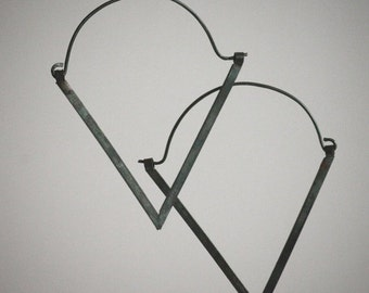 NEW Dark Sparkle Collection: Black V Geometric Oxidized Recycled Silver Earrings