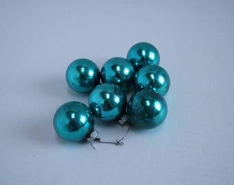 Vintage Aqua Christmas ornaments