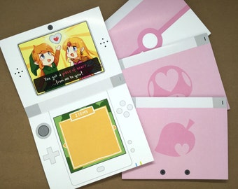 Nintendo Valentine Card | cute valentine card, geek greeting card, gamer valentine, video game card, geek card, gamer greeting card