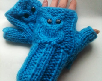 PDF Pattern for 40 Row Owl Mitts